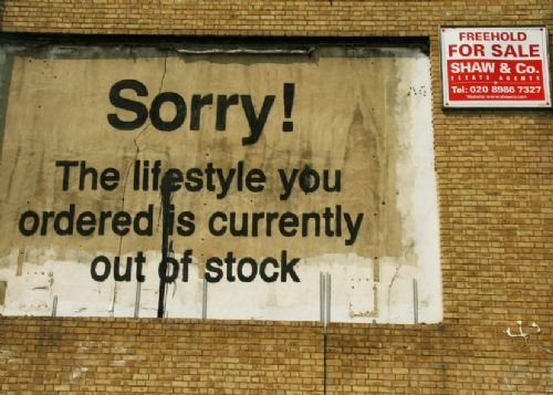 BANKSY - LIFESTYLE canvas print - self adhesive poster - photo print
